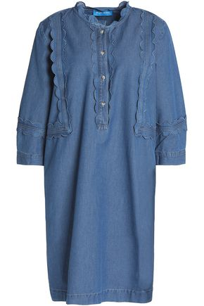 M.I.H JEANS Scalloped chambray mini dress