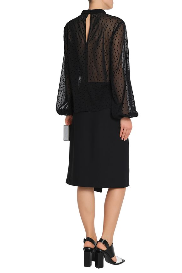 Gathered cutout flocked tulle blouse | NICHOLAS | Sale up to 70% off | THE  OUTNET