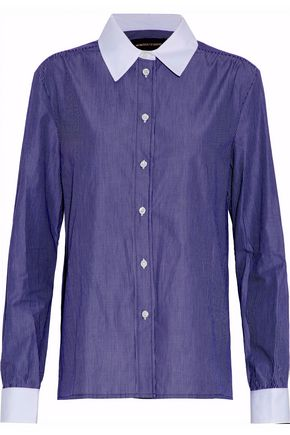VANESSA SEWARD Striped cotton-poplin shirt