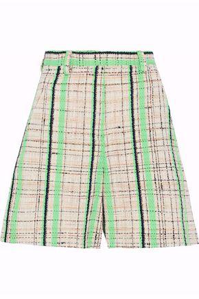 MAISON MARGIELA Neon checked cotton-blend tweed shorts