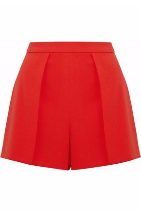 WOMAN PLEATED CREPE SHORTS RED