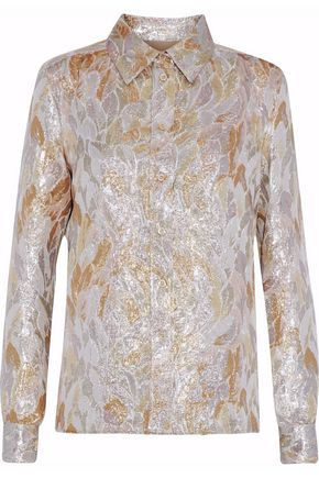 VANESSA SEWARD Metallic brocade shirt