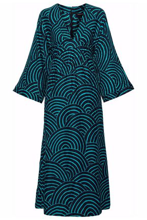 VANESSA SEWARD Gathered silk-jacquard midi dress