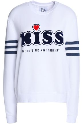 ZOE KARSSEN Printed cotton-terry sweatshirt