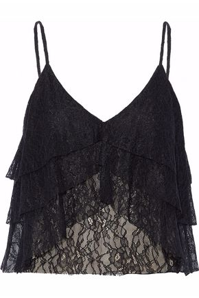 ALICE + OLIVIA Tiered lace camisole
