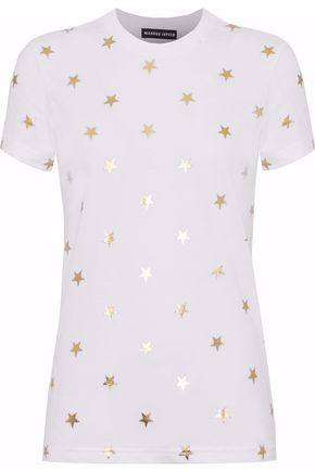 MARKUS LUPFER Metallic printed cotton-jersey T-shirt