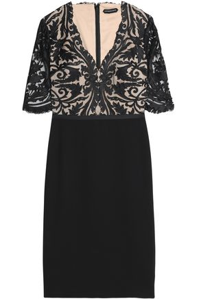 CATHERINE DEANE Embroidered jersey dress