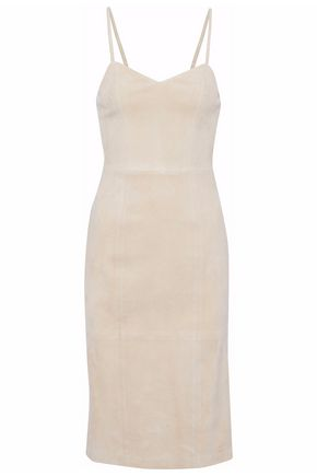 ALICE + OLIVIA Rochelle suede dress