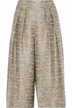 ALICE+OLIVIA Tweed wide-leg culottes