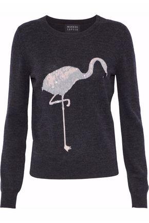 MARKUS LUPFER Embellished intarsia merino wool sweater