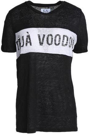ZOE KARSSEN Printed linen T-shirt