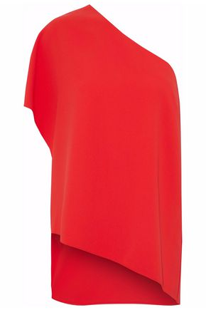 ALICE + OLIVIA One-shoulder draped crepe top