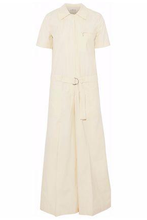 MAISON MARGIELA Belted cotton-poplin wide-leg jumpsuit