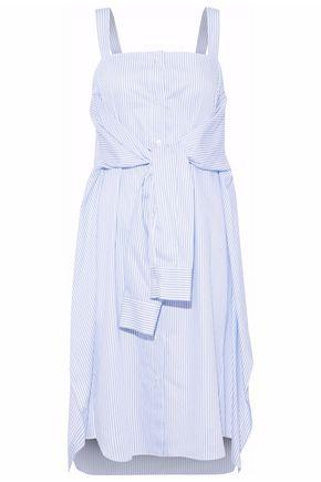 MAISON MARGIELA Tie-front striped cotton-poplin dress