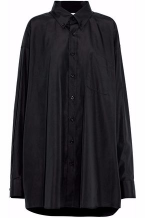 MAISON MARGIELA Oversized cotton-voile shirt dress
