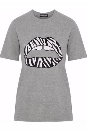 MARKUS LUPFER Sequin-embellished cotton-blend jersey T-shirt