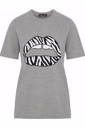 MARKUS LUPFER Sequin-embellished cotton-jersey T-shirt