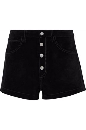 RAG & BONE Button-detailed suede shorts