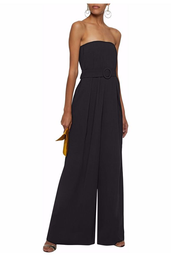 Strapless belted pleated wide-leg jumpsuit | NICHOLAS | Sale up to 70% off  | THE OUTNET