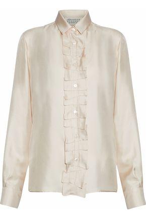 MAISON MARGIELA Ruffled silk-satin shirt