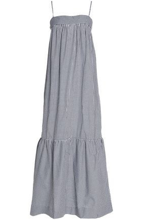 NICHOLAS Ruffled gingham cotton and silk-blend poplin maxi dress