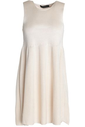CALVIN KLEIN COLLECTION Pleated silk mini dress