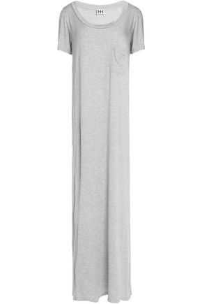 HAUTE HIPPIE Mélange modal-jersey maxi dress