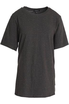 KORAL Marled cutout cotton-blend jersey T-shirt