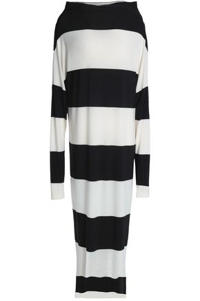 NORMA KAMALI Multi-way striped stretch-jersey maxi dress