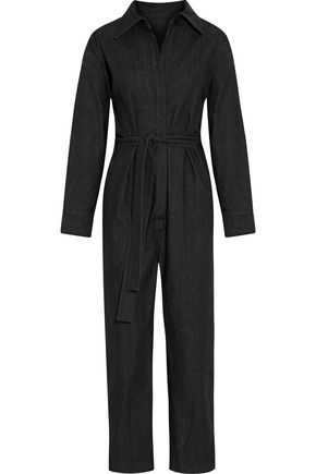 NORMA KAMALI Belted denim jumpsuit