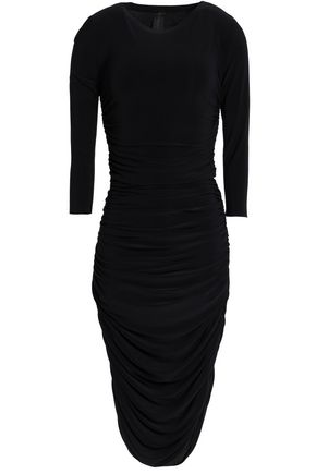 NORMA KAMALI Ruched stretch-jersey dress