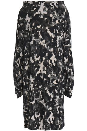 NORMA KAMALI Printed stretch-jersey dress