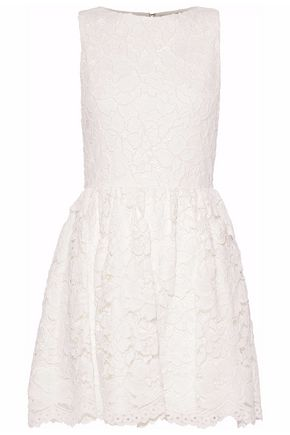 ALICE + OLIVIA Flared corded lace mini dress