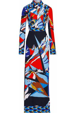 EMILIO PUCCI Printed faille gown