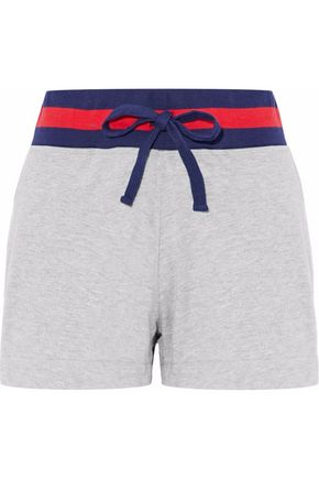 SLEEPY JONES Striped cotton-blend shorts