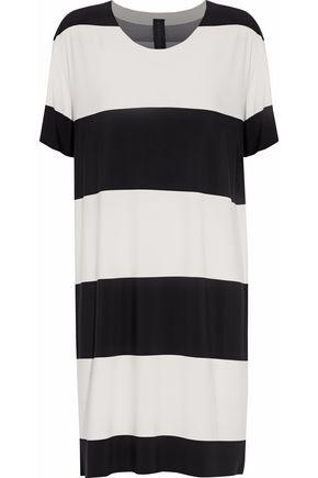 NORMA KAMALI Striped stretch-jersey dress