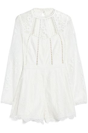 ALEXIS Open-back lace playsuit