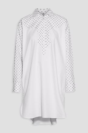ROSETTA GETTY Paneled printed cotton-poplin shirt