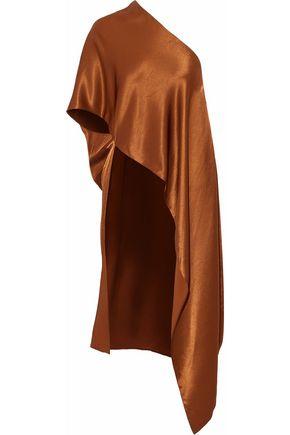 ROSETTA GETTY One-shoulder asymmetric satin tunic