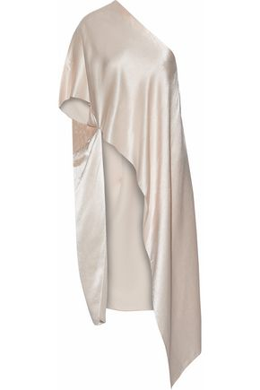 ROSETTA GETTY One-shoulder asymmetric satin tunic