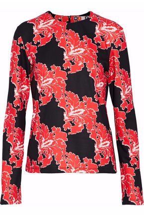 MSGM Printed stretch-jersey top