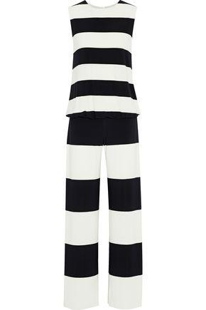 NORMA KAMALI Striped jersey jumpsuit