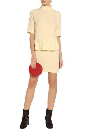 GANNI Crepe peplum mini dress