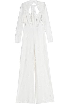 ALEXIS Open-back lace jumpsuit