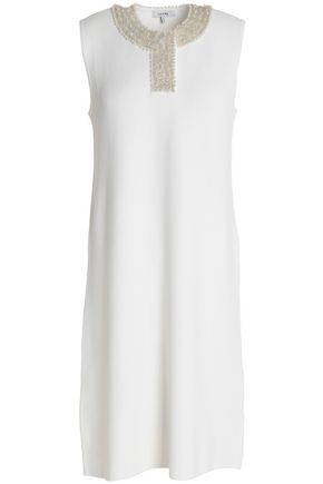 GANNI Loras embellished stretch-knit dress
