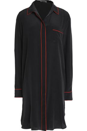 GANNI Grace silk-satin shirt dress