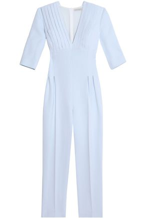 EMILIA WICKSTEAD Pleated crepe jumpsuit