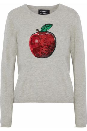 MARKUS LUPFER Sequin-embellished cotton sweater
