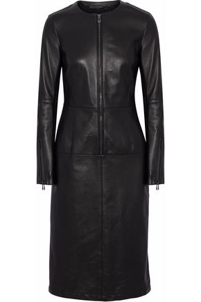 BELSTAFF Paneled leather dress