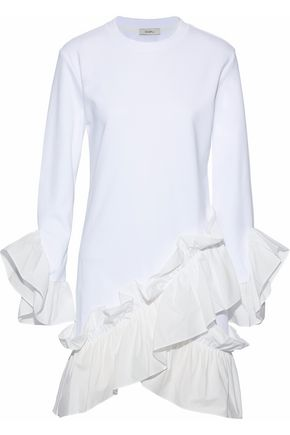 GOEN.J Ruffled modal and cotton-blend mini dress